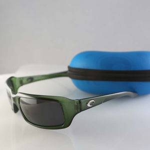 Costa Del Mar sunglasses, green frame, gray lenses